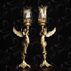 شمعدان برنزی فرشته